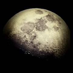My favorite Moon shot taken in Carmel California with an iphone4 and a really strong set of military binoculars! by Dee Ashley is licensed under a Creative Commons Attribution 4.0 International License.