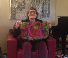 """Handmade bag from my sister Marie,"" photo by Theresa Barker."