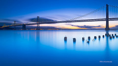 Morning Calmness - San Francisco bay bridge by David Yu is licensed under a Creative Commons Attribution 4.0 International License.