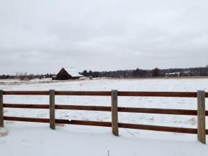 Winter Barn, photo by Theresa Barker.